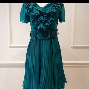 Prada teal gorgeous dress